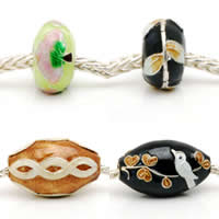 Enamel Sterling Silver European Beads