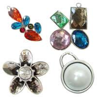 Resin Zinc Alloy Pendants