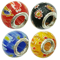 Millefiori Glass European Beads
