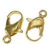 Iron Lobster Claw Clasp, more plated colors for choice, 7x12x3mm, Hole:Approx 1MM, Sold by Bag