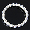 925 Sterling Silver Ring Tjetri, Petull e ëmbël në formë gjevreku, argjend praruar vërtetë, 10x10x1.20mm, 30PC/Qese,  Qese