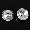925 Sterling Silver Cap Bead, argjend praruar vërtetë, 8x8x2.80mm, : 0.8mm, 50PC/Qese,  Qese