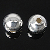 925 Sterling Silver Beads, Round, argjend praruar vërtetë, 6mm, : 1.5mm, 20PC/Qese,  Qese