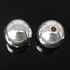 925 Sterling Silver Beads, Round, argjend praruar vërtetë, 8mm, : 1.5mm, 10PC/Qese,  Qese
