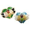 Beads Smooth Cloisonne, Zemër, asnjë, 19x15x5mm, : 1mm, 30PC/Qese,  Qese