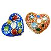 Beads Smooth Cloisonne, Zemër, asnjë, 17x16x6mm, : 1mm, 30PC/Qese,  Qese