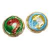 Beads Smooth Cloisonne, Round Flat, asnjë, 18x6mm, : 1mm, 20PC/Qese,  Qese