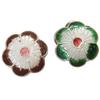 Beads Smooth Cloisonne, Lule, asnjë, 12x5mm, : 2mm, 30PC/Qese,  Qese