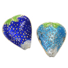 Beads Smooth Cloisonne, Lulushtrydhe, asnjë, 17x21x8mm, : 2mm, 20PC/Qese,  Qese