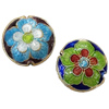 Beads Smooth Cloisonne, Round Flat, asnjë, 16x7mm, : 1mm, 30PC/Qese,  Qese