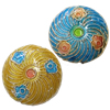 Beads Smooth Cloisonne, Round Flat, 19x7mm, : 1mm, 20PC/Qese,  Qese