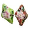 Beads Smooth Cloisonne, Romb, 27x17x9mm, : 1mm, 20PC/Qese,  Qese