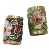 Beads filigran Cloisonne, Daulle, 9x15mm, : 1mm, 50PC/Qese,  Qese