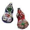 Beads filigran Cloisonne, Kungull uji, 8x16mm, : 1mm, 100PC/Qese,  Qese