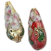 Beads filigran Cloisonne, Lot, 8.50x21.50mm, : 1mm, 60PC/Qese,  Qese