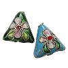 Beads filigran Cloisonne, Romb, 12x12x6mm, : 1mm, 100PC/Qese,  Qese
