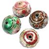 Beads filigran Cloisonne, Daulle, 13x11mm, : 1mm, 60PC/Qese,  Qese