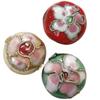 Beads filigran Cloisonne, Monedhë, asnjë, 14x9.50mm, : 1mm, 100PC/Qese,  Qese
