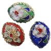 Beads filigran Cloisonne, Oval, asnjë, 15x12x7mm, : 1mm, 60PC/Qese,  Qese
