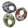 Beads filigran Cloisonne, Oval, asnjë, 19x16x4mm, : 1mm, 60PC/Qese,  Qese