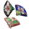 Beads filigran Cloisonne, Monedhë, asnjë, 18x11x4mm, : 1mm, 100PC/Qese,  Qese