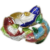 Beads Smooth Cloisonne, Kafshë, 21x12x5mm, : 1mm, 30PC/Qese,  Qese