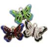 Pendants Cloisonne, Kafshë, i përzier, 28x20x6mm, : 3.5mm, 20PC/Qese,  Qese