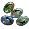 Beads Smooth Cloisonne, Kafshë, 12x16x5mm, : 1.5mm, 20PC/Qese,  Qese