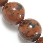 Mahagoni Obsidian Perlen, mahagonibrauner Obsidian, rund, natürlich, 6mm, Bohrung:ca. 0.8mm, Länge:ca. 15 ZollInch, 10SträngeStrang/Menge, ca. 60PCs/Strang, verkauft von Menge