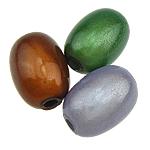 ABS-Kunststoff-Perlen, ABS Kunststoff, oval, gemischte Farben, 8x11mm, Bohrung:ca. 2mm, 630PCs/Tasche, verkauft von Tasche