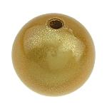 ABS-Kunststoff-Perlen, ABS Kunststoff, rund, goldfarben, 14mm, Bohrung:ca. 2mm, 156PCs/Tasche, verkauft von Tasche
