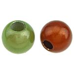 ABS-Kunststoff-Perlen, ABS Kunststoff, rund, gemischte Farben, 12mm, Bohrung:ca. 4mm, 630PCs/Tasche, verkauft von Tasche