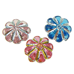 ABS-Kunststoff-Perlen, ABS Kunststoff, Blume, gemischte Farben, 7x3mm, Bohrung:ca. 0.5mm, 7700PCs/Tasche, verkauft von Tasche