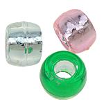 Beads ABS plastike, Daulle, ngjyra të përziera, 9x6mm, : 4mm, 1700PC/Qese,  Qese
