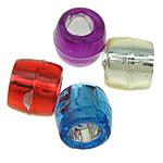 Beads ABS plastike, Daulle, ngjyra të përziera, 4x4.50mm, : 2mm, 15000PC/Qese,  Qese