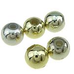 Beads ABS plastike, Round, ngjyra të përziera, 6mm, : 1.5mm, 4700PC/Qese,  Qese