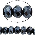 Rondell Kristallperlen, Kristall, AA grade crystal, metallische Farbe plattiert, 6x8mm, Bohrung:ca. 1.5mm, Länge:ca. 17 ZollInch, 10SträngeStrang/Tasche, verkauft von Tasche