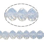 Rondell Kristallperlen, Kristall, AA grade crystal, weißer Opal, 3x4mm, Bohrung:ca. 1mm, Länge:ca. 12 ZollInch, 10SträngeStrang/Tasche, ca. 90PCs/Strang, verkauft von Tasche