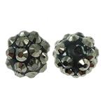 Beads diamant i rremë Rrëshirë, Rrëshirë diamant i rremë, Round, asnjë, me diamant i rremë, 10x12mm, : 1.5mm, 100PC/Qese,  Qese