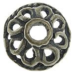 Bali Sterling Silver Bead Caps, Tajlandë, Lule, asnjë, asnjë, asnjë, 9.20x9.20x3.50mm, : 2.2mm, 10PC/Qese,  Qese