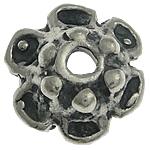 Bali Sterling Silver Bead Caps, Tajlandë, Lule, asnjë, asnjë, asnjë, 7.50x7.50x3.20mm, : 1.4mm, 10PC/Qese,  Qese