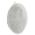 Display Velveteen Vath, with Plastik, Oval Flat, asnjë, gri, 175x240mm,  PC