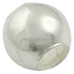925 Sterling Silver Beads, Daulle, argjend praruar vërtetë, 3.80x3.50mm, : 2mm, 30PC/Qese,  Qese