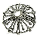 Bali Sterling Silver Bead Caps, Tajlandë, Lule, asnjë, asnjë, asnjë, 14x5mm, : 2.3mm, 7PC/Qese,  Qese