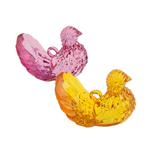 Pendants akrilik, Kafshë, i tejdukshëm, ngjyra të përziera, 44x42x29mm, : 4.5mm, 32PC/Qese,  Qese