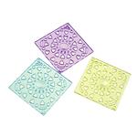 Mbulim Gjuhësh akrilik, Diamant, i tejdukshëm, ngjyra të përziera, 40x40x3mm, : 2mm, 122PC/Qese,  Qese