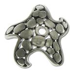 Bali Sterling Silver Bead Caps, Tajlandë, Yll deti, asnjë, asnjë, asnjë, 11.30x11.50x3.30mm, : 1.1mm, 10PC/Qese,  Qese