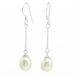 Një palë vathë Pearl ujërave të ëmbla, Pearl kulturuar ujërave të ëmbla, Lot, asnjë, e bardhë, 7.50x39mm, 10Çiftet/Qese,  Qese
