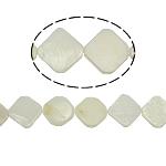 Beads Natyrore White Shell, Romb, asnjë, e bardhë, 18x3mm, : 2mm, :15.5Inç, 24PC/Fije floku,  15.5Inç,