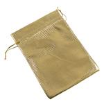 Drawstring çanta bizhuteri, Organza, ar, 80x120mm, 100PC/Qese,  Qese